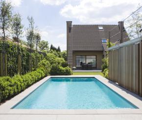 Buitenzwembad voorgevormd zwembad polyester zwembad in for Monoblock zwembad