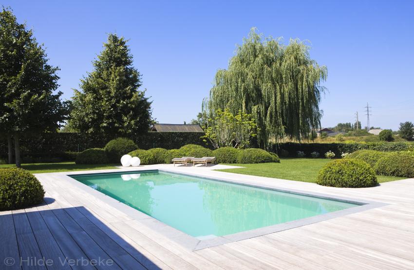 Buitenzwembad met padoek terras skimmer zwembad liner de mooiste zwembaden - Terras met zwembad ...