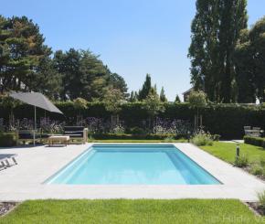 Moderne tuin stadstuin met vijverpartij vormsnoei en for Buitenzwembad aanleggen