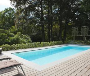 Starline monoblock zwembad als eyecatcher in moderne tuin for Kostprijs zwembad aanleggen