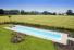 buitenzwembad in polypropyleen met zwevende trap