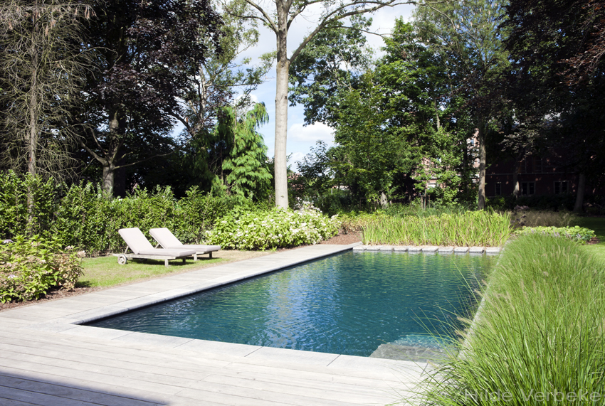 Biologisch zwembad met terras in padoek bij authentieke woning de mooiste zwembaden - Terras met zwembad ...