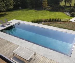 Luxe eikenhouten poolhouse voorzien van keuken douche en toilet de mooiste zwembaden - Zwarte pool liner ...