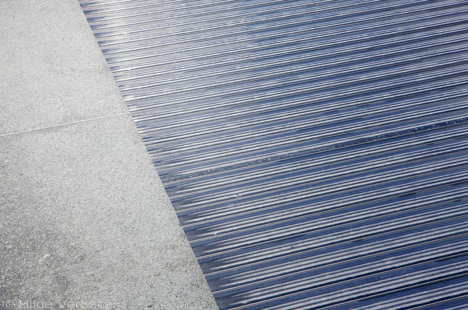 detail van een automatisch rolluik