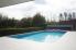 betonnen buitenzwembad bekleed met een folie