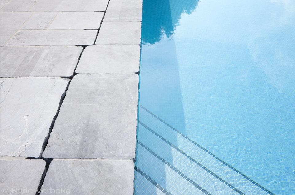 Aza6 - Mozaiek blauwe bad ...