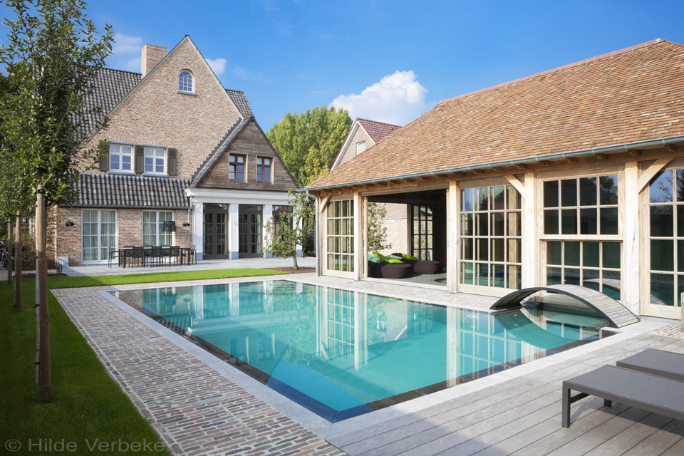 Binnenzwembad buitenzwembad bouwkundig zwembad de