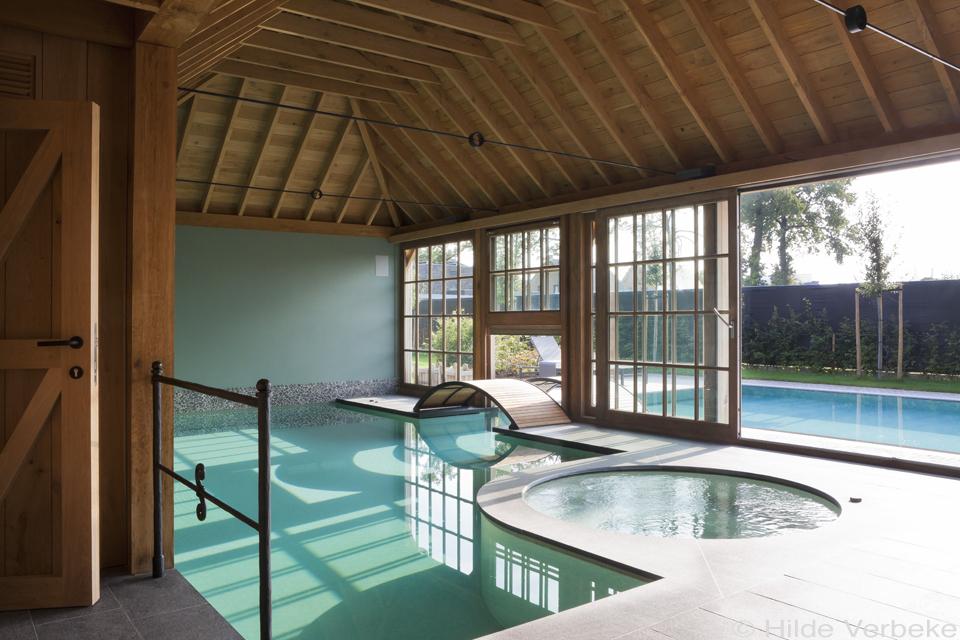 Combinatie binnen en buitenzwembad exclusief zwembad for Binnenzwembad bouwen