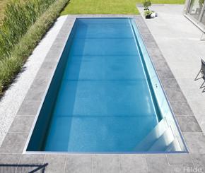 buitenzwembad in inox, Nouv'eau zwembadbouwer