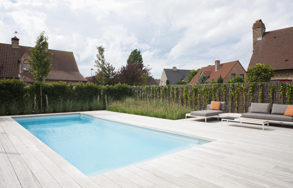 Aquapoolz bliz lichtgrijs monoblock zwembad in stadstuin for Monoblock zwembad