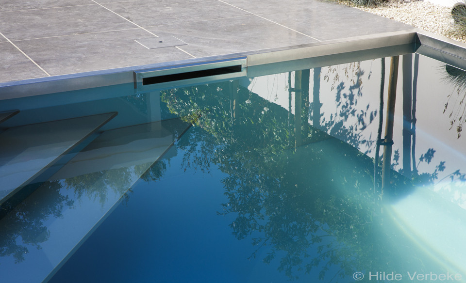 Inox zwembad aanleggen in kleine tuin met lounge ruimte u2039 de mooiste