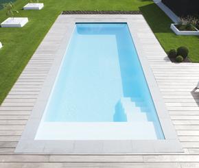 LPW La Plage, monoblock zwembad met hoektrap, JDS pools