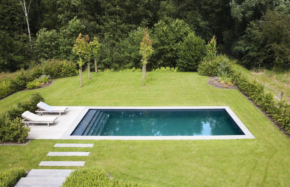 Starline monoblock zwembad als eyecatcher in moderne tuin for Monoblock zwembad