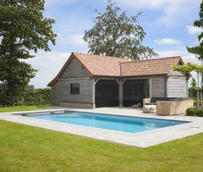 betonnen zwembad bekleed met liner