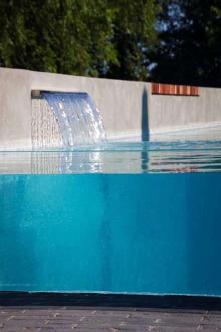 Glaswand zwembad