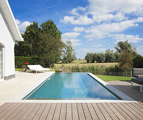 infinity pool, infini zwembad