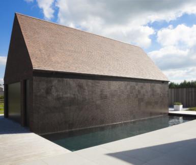 Starline monoblok zwembad in antraciet kleur voorzien van for Kostprijs polyester zwembad