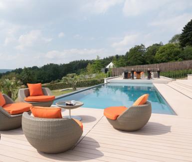 inox infinity pool Van Eeckhoudt zwembaden