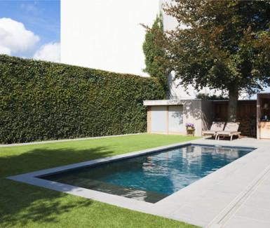 skimmer zwembad aangelegd door Azuralux