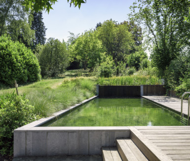 zwemvijver aangelegd door Ecoworks