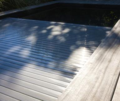 Polycarbonaat solar metallic automatisch rolluik van  Aquadeck
