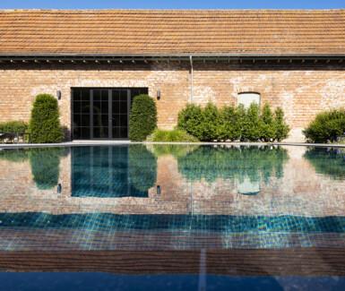 overloopzwembad bekleed met mozaïek aangelegd door my pool